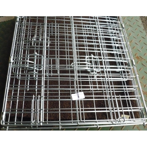 3 - Two small collapsible dog cages...