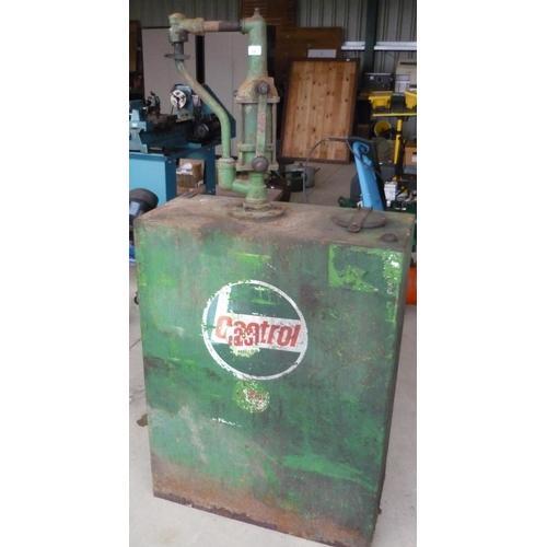 38 - Vintage Castrol oil dispenser with original makers label...
