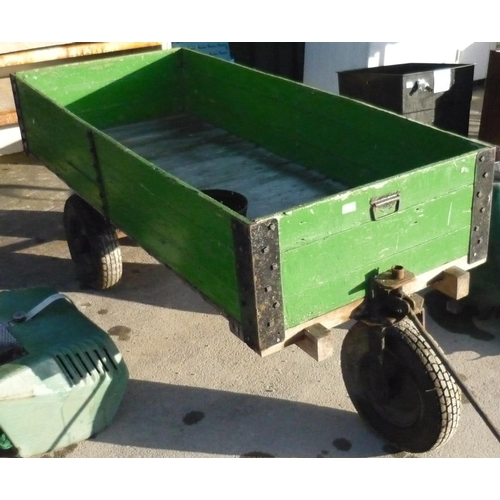 97 - Three wheeled hand cart with pneumatic tires...