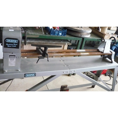12 - Large Draper revolving head electric wood lathe...
