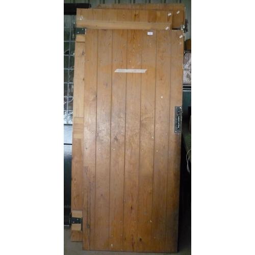 32 - Five pine interior doors (farmhouse in Farndale)...