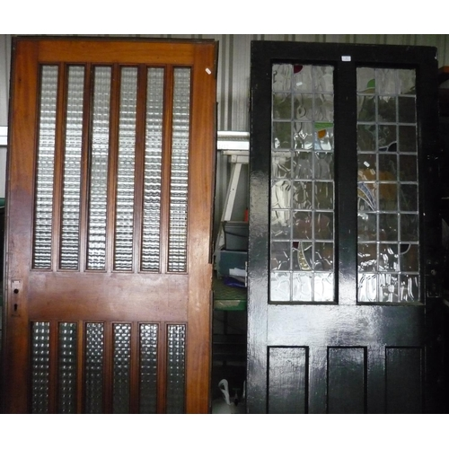 33 - Two large doors with glass panelling...
