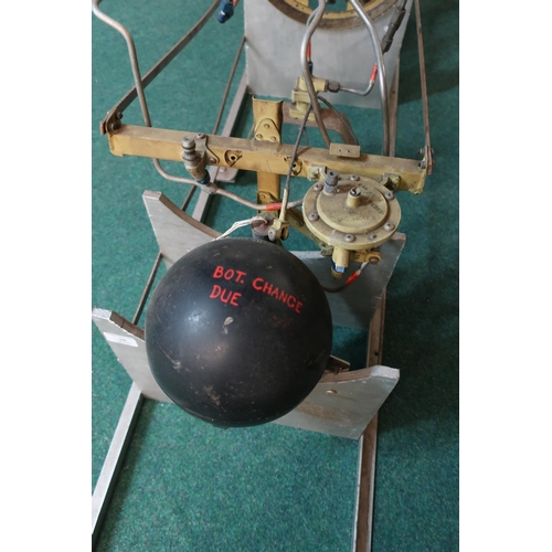140 - Cutaway sectional Seacat type missile mounted on display stand...