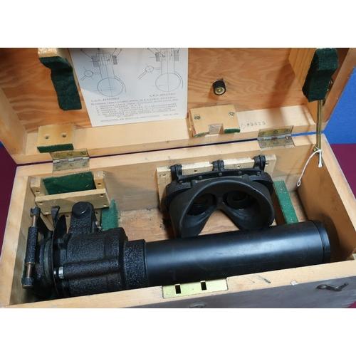 123 - Cased gun sighting telescope G.376...