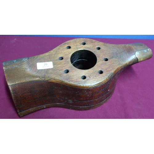 29 - Wooden center  from a gypsy major propeller with various stamped markings (width 38cm)...