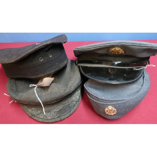 90 - Four various British military caps including two Navy and two RAF caps (4)...