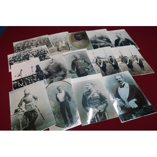 192 - Box containing a large quantity of military research reference type photographic prints of 19th/20th...