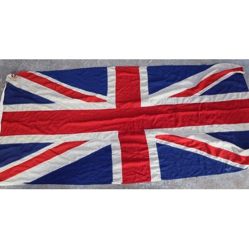 185 - Large British flag, handstitched cotton (10ft x 5ft)...