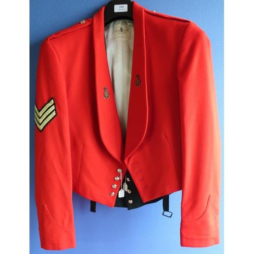 244 - Green Howard's sergeants mess jacket and waistcoat...