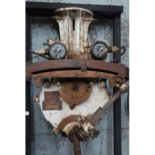 397 - Rise and dive control valve unit from a c.WWII period British submarine with war department stamp an...