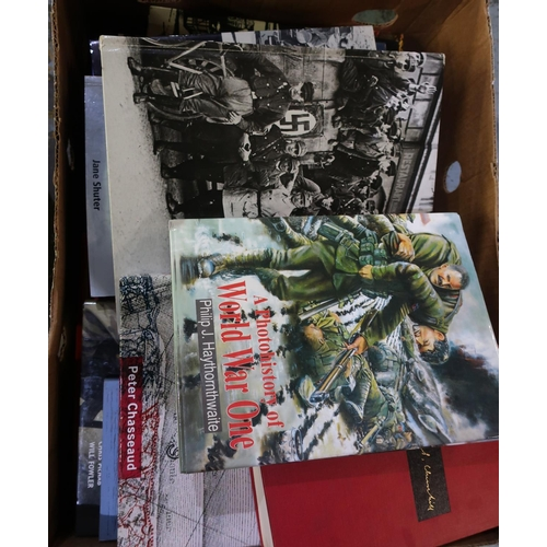 331 - Box containing a large quantity of various military related books on various subjects and periods...