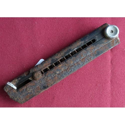 451 - c.WWII period Luger pistol magazine no.974, semi relic state...