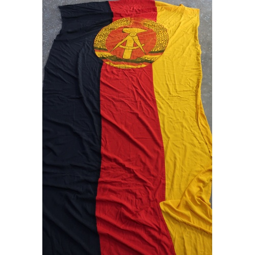 428 - Extremely large post war East German flag...