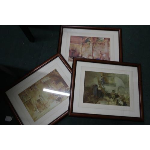 24 - Three framed Russell Flint prints (53.5cm x 43cm including frames)...