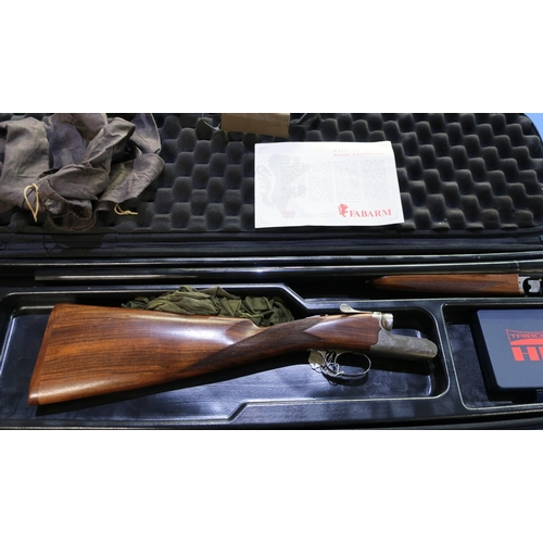 674 - Brand new cased Fabarm Beta Classic 20 bore side by side ejector shotgun with 28 1/4 inch multi-chok...