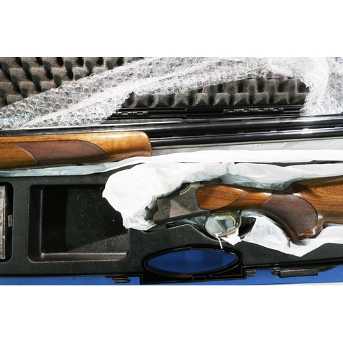 675 - Cased Browning 525 20 bore over and under ejector shotgun with 30 inch barrels, 14 1/2 inch pistol g...