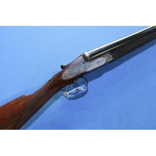 679 - Cased William Powell 12 bore side by side side-lock ejector shotgun with 28 inch barrels, choke 1/4 ...