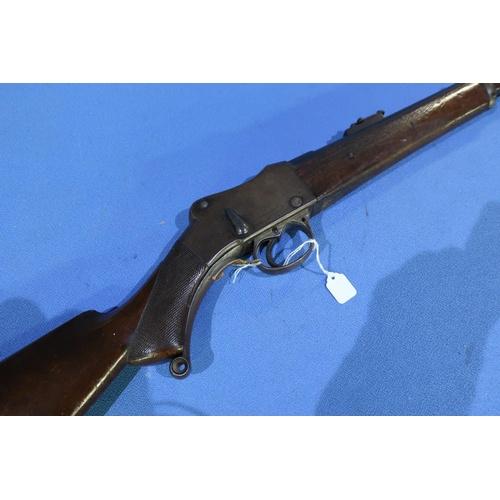 599 - 577-450 martini action cavalry carbine the lock marked William Powell & Son, Carrs Lane Birmingham w...