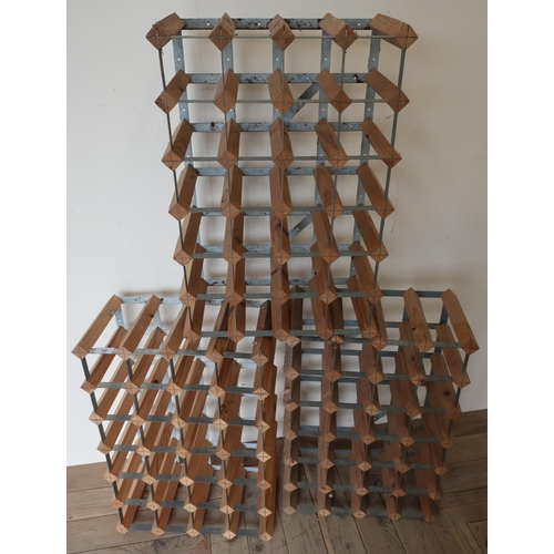 60 - Three 28 bottle wine racks...