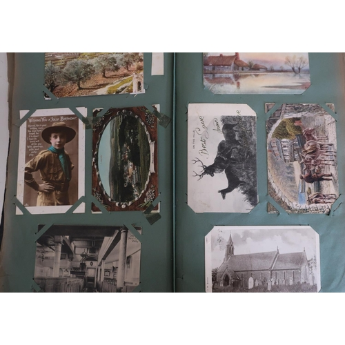23 - Three albums of postcards containing a large quantity, including some of local interest, Helmsley, M...