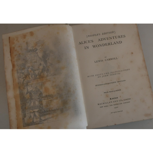 26 - The People's Edition of Alice's Adventures in Wonderland, published Macmillan & Co, Ltd, New York, T...