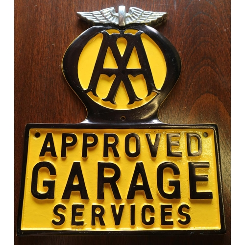 63 - Aluminium AA Approved Garage Services sign...