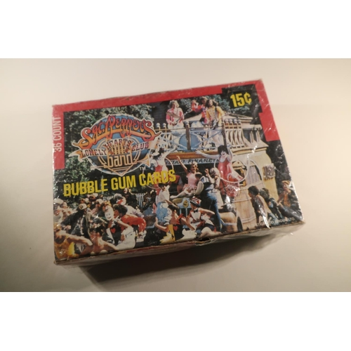 139 - Box of Sergeant Peppers Lonely Heart Club band The Beatles bubblegum cards (still sealed and unopene...