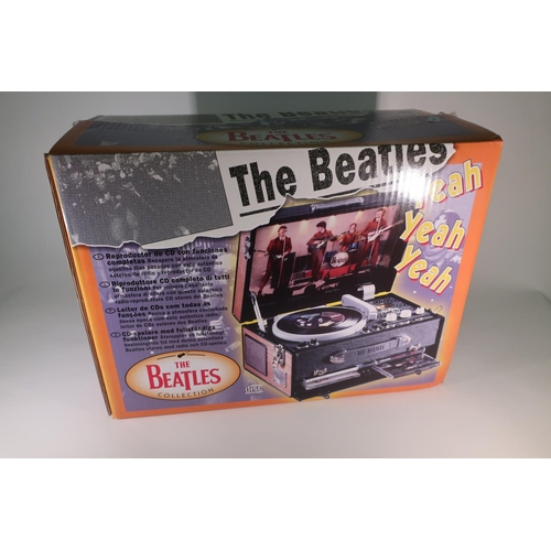 155 - Boxed The Beatles collection pick up CD player/radio...