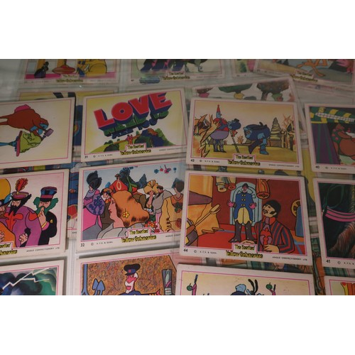 138a - Set of Anglo Confectionery Ltd The Beatles Yellow Submarine Bubblegum Cards, 1-66 with duplicate car...