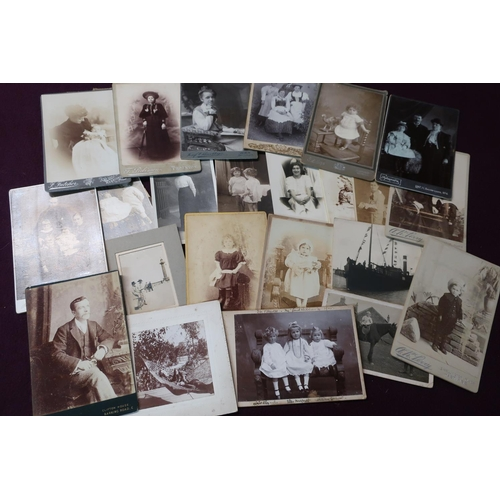 14 - A box containing a large quantity of Victorian and later photographs, picture postcards, paperwork e...