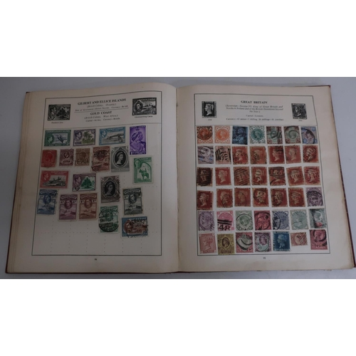 29 - The Strand stamp album containing a collection of various mixed used world and GB stamps including V...