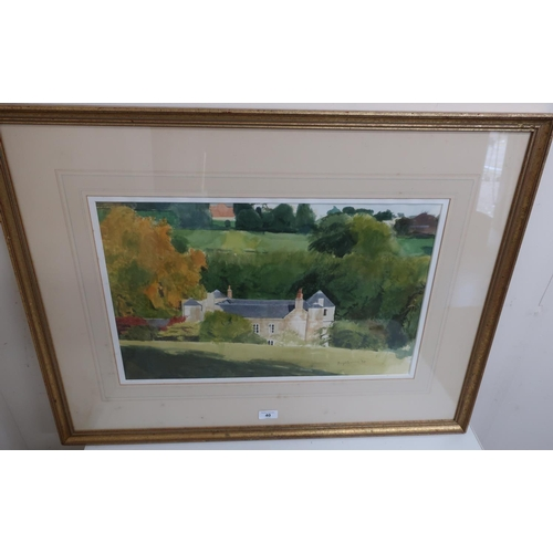 40 - Roger Mclean, Country house in a wooded landscape, watercolour, signed and dated 1994 (34cm x 54cm)...