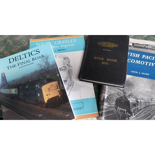 52 - Good collection of Railway related books including British Pacific Locomotives by Cecil J Allen, Nig...