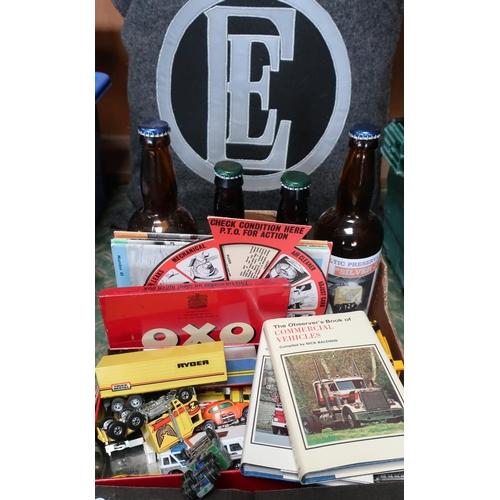 53 - 1960's CM fuel saver dial, four 1950's Foden News magazines, Cummins Super E 320 sign, and a grey cu...