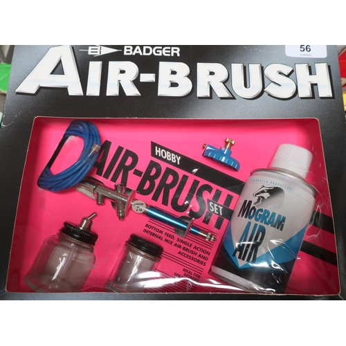 56 - Boxed as new Badger Hobby Airbrush set...