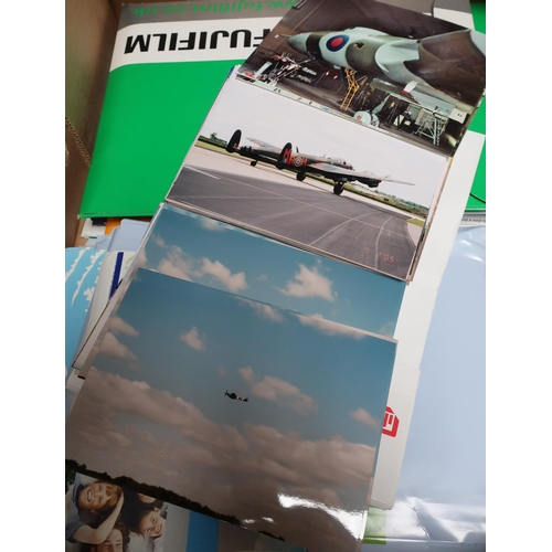 57 - Large quantity of photographs, the majority trains, planes and trucks (two boxes)...