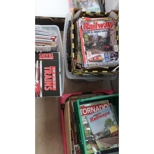 52A - Large collection of 1980's - 1990's magazines relating to railways and trains including Steam Railwa...