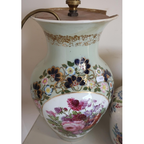 34 - Selection of various assorted vases and table lamps, including a pair of Chinese blue & white blosso...