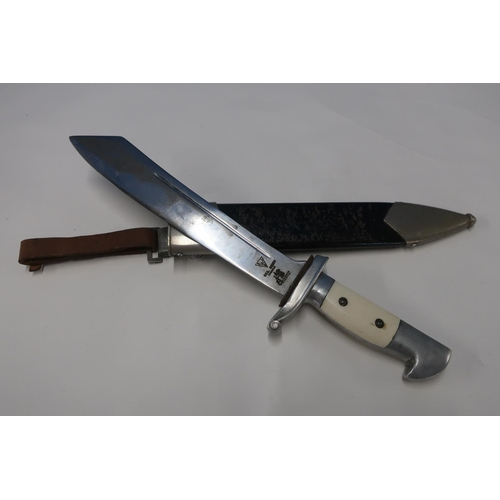 12 - German Teno officers type dress dagger with 9 1/2 inch blade stamped Eric Eickhorn Ges.Gesch origina...