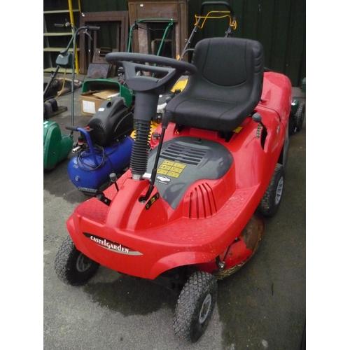 27 - Castle garden ex70 ride on petrol mower (A/F)...