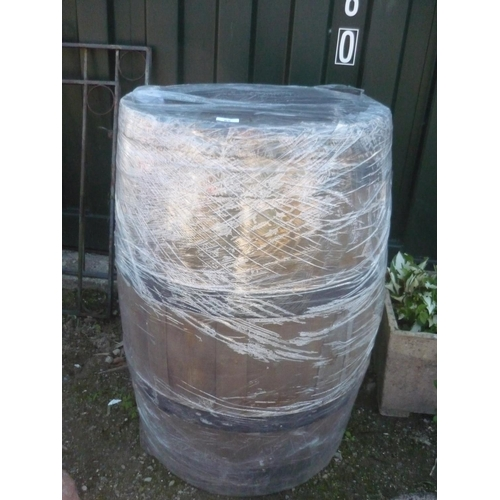 65 - As new coopered barrel...