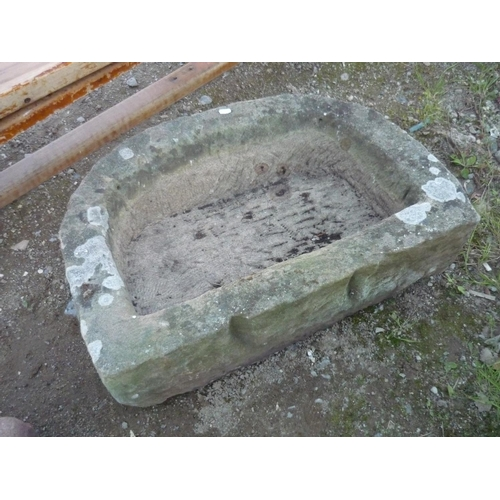 66 - D shaped sandstone trough...