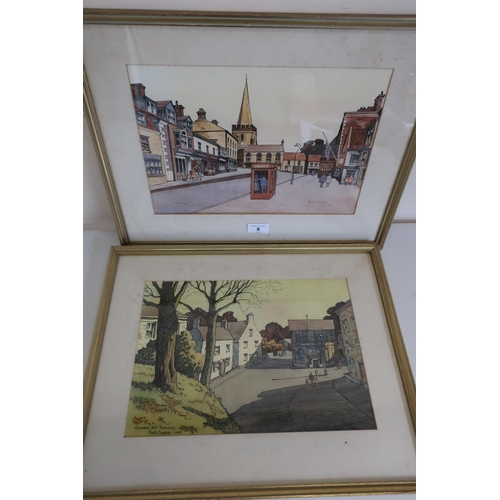 8 - Procter Dugdale 'Memorial Hall Pickering and Market Place Pickering' ink and watercolour, dated 1979...