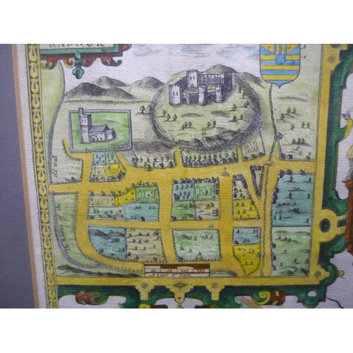 16 - 17th C map of 'The Countie of Radnor' described by Christopher Saxon and published by John Speed for...