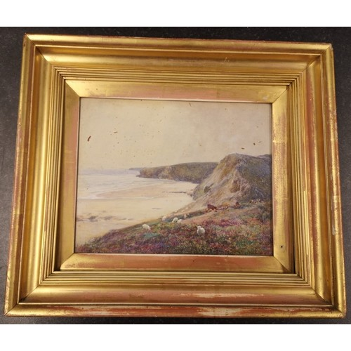 28 - V. Whittle, 'Watergate Bay' watercolour, signed and dated 22/93, titled in pencil verso (21.5cm x 27...