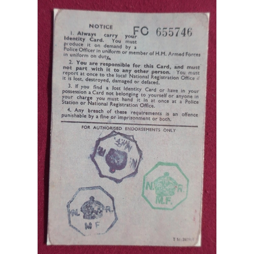 6 - Collection of various WWII military and civil related paperwork and ephemera, including uniforms and...
