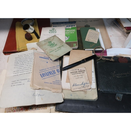 41 - Extremely large collection of military paperwork, photographs and ephemera, relating to Sergeant Wal...
