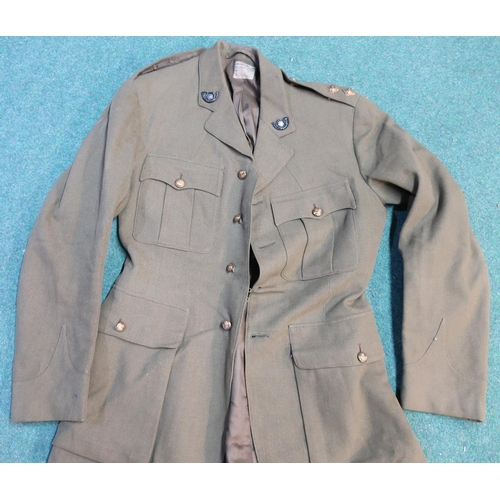 44 - WWII period lieutenant's uniform for the Kings Own Yorkshire Light Infantry, comprising of jacket wi...