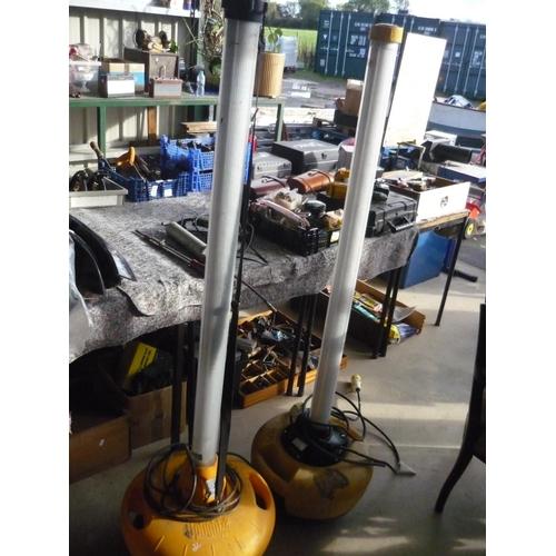 91 - Pair of workshop/garage florescent lamps...