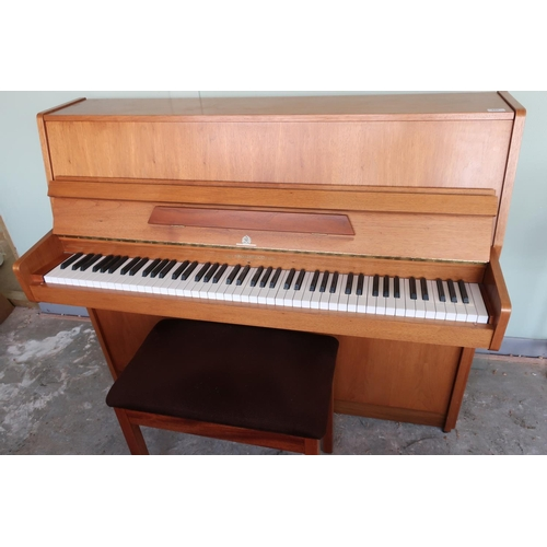 257 - Modern John Broadwood & Sons of London white wood cased overstrung upright piano, by Royal appointme...